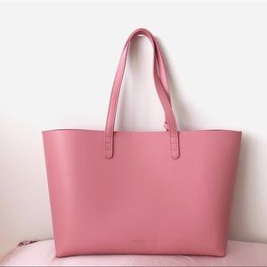 New! $650 Mansur Gabriel Pink medium leather tote